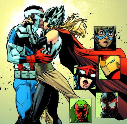 Natalie Portman será novia de otro avenger en 'Thor: Love and Thunder' beso-avengers-marvel-mexico-512x500