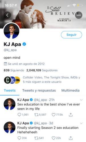 ¡Y no es 'Riverdale'! KJ Apa confesó cuál es su serie de adolescentes favorita kj-apa-302x500