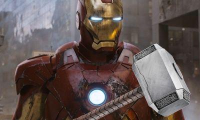 Iron Man levantó el martillo de Thor