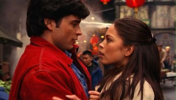 Clark y Lana juntos en Crisis on infinite earths