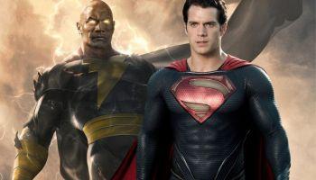 fan art de Superman y Black Adam