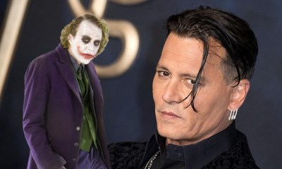 nuevo fan art de Johnny Depp como Joker