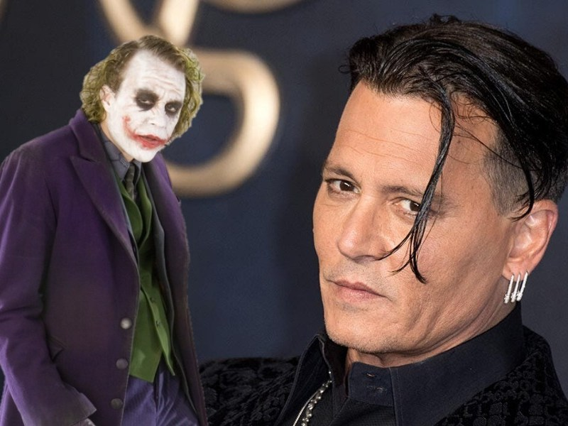 nuevo fan art de Johnny Depp como Joker