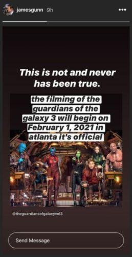 James Gunn desmintió un rumor sobre 'Guardians of the Galaxy vol.3' gunn-1221006-258x500
