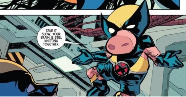 ¿En el universo de Spider-Ham? Marvel presentó Wolverine Pig marvel-presento-wolverine-pig-1-600x313