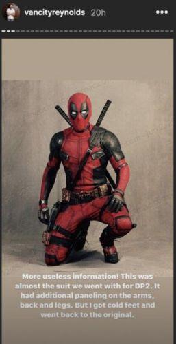 Ryan Reynolds compartió una foto del traje de 'Deadpool 2' que nunca se usó ryan-reynolds-instagram-deadpool-costume-min-1-257x500