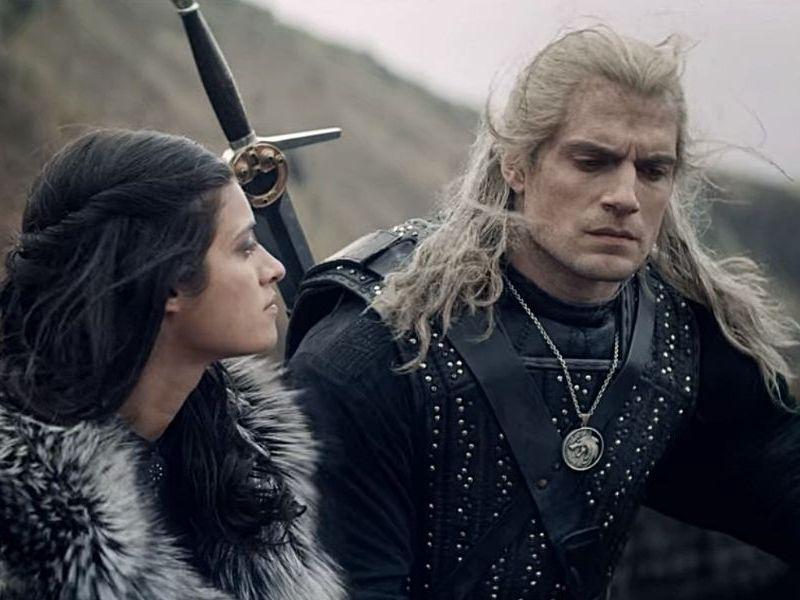 Geralt y Yennefer juntos en 'The Witcher 2'