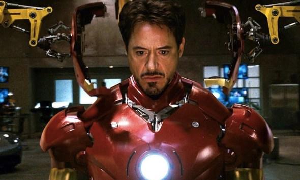Robert Downey Jr. usó el casco de Iron Man por primera vez