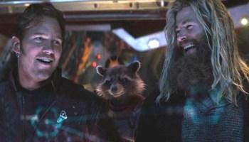 Chris Hemsworth y Chris Pratt en las grabaciones de Love and Thunder
