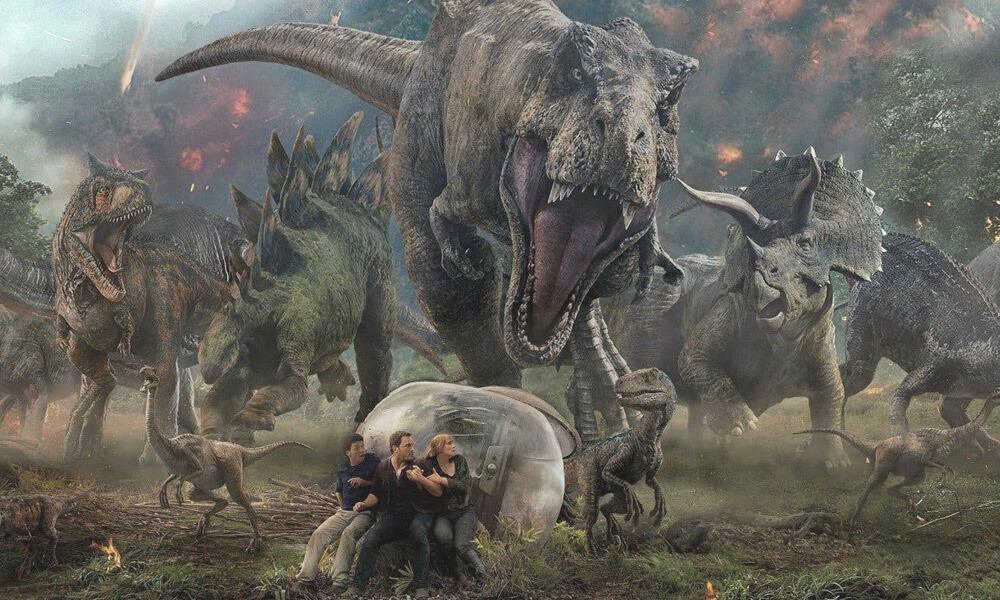 dinosaurios robots en Jurassic World'