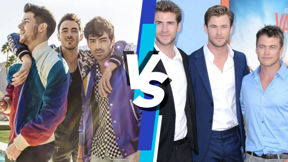 Jonas Brothers retan a los hermanos Hemsworth