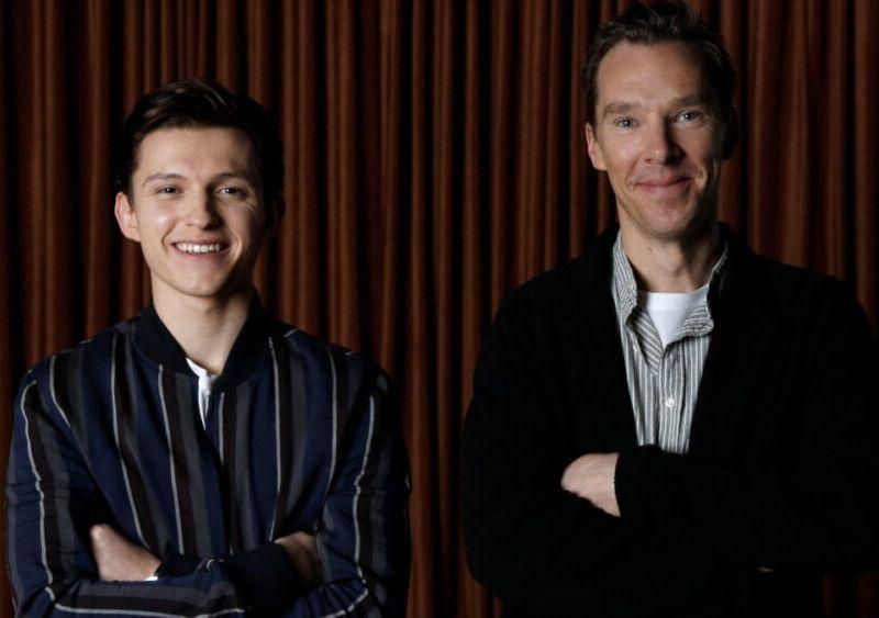 Benedict Cumberbatch es visto con Tom Holland y Zendaya