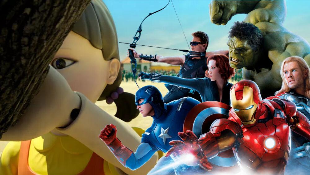 Avengers en el Juego del Calamar