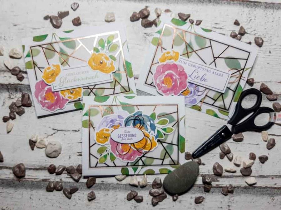 Grußkarte mit Blättern