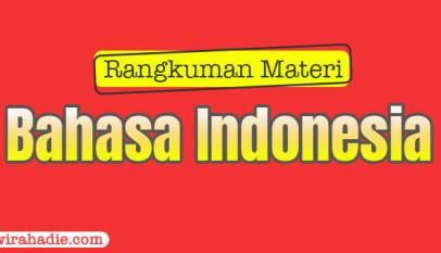 rangkuman bahasa indonesia