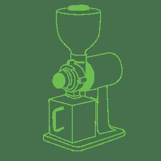mesin grinder kopi siluet