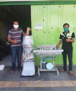 2. Bapak Riki - Garut - Continuous Sealer with Gas Blower SF-150G dan Mesin Cetak Bakso MBM-300 - 11 Juni 2020
