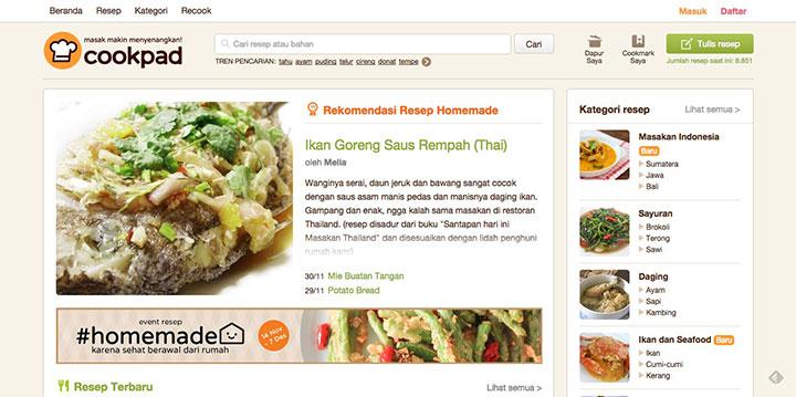 website cookpad