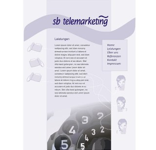 Neues Webdesign-Projekt in Telemarketing 1