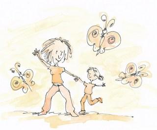 Tanz-Illustration: schnell und doch langsam 1