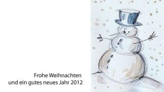 Pfiffige Weihnachtskarte mit Schneemann 1