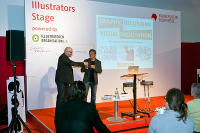 Mein Vortrag über Graphic Recording auf der Frankfurter Buchmesse 1