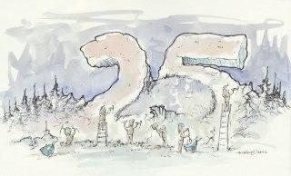 Illustration zum 25. Jubiläum des Goldbergbaumuseums Goldkronach 1