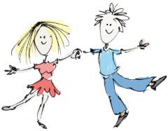 Illustrationen für die bestehende Website einer Tanzlehrerin 3