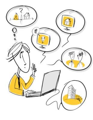 Illustrationen für eine Präsentation eines Beratungsunternehmens 2