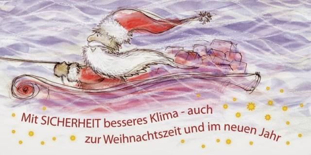 Handgezeichnete Weihnachtskarte 1