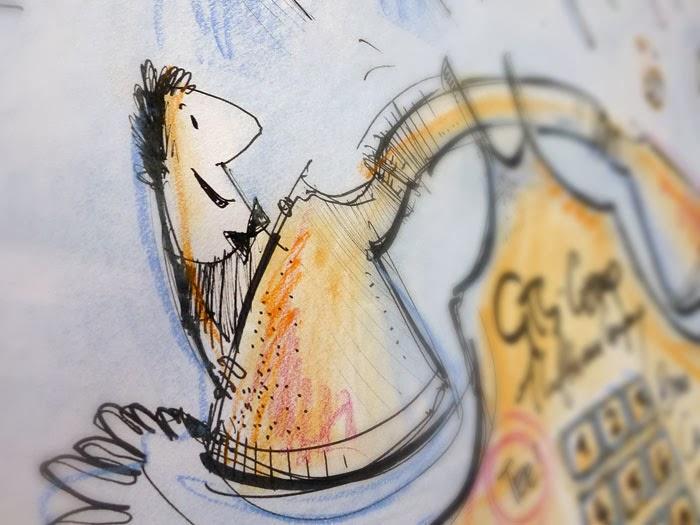 Geburtstagsbild im Graphic-Recording-Stil 1