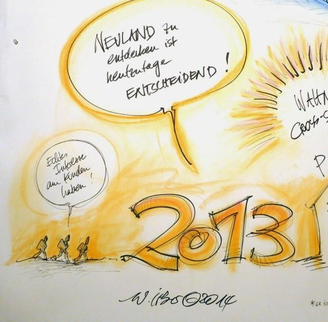 Graphic Recording auf einer Jahresauftaktveranstaltung in Köln 9