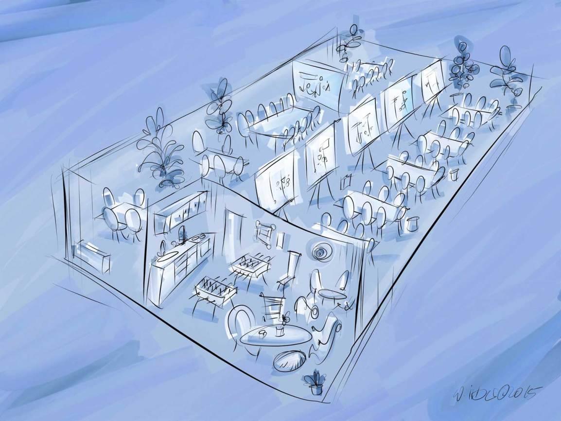 Loft-Architekturskizze
