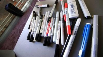 die Stifte beim Graphic Recording