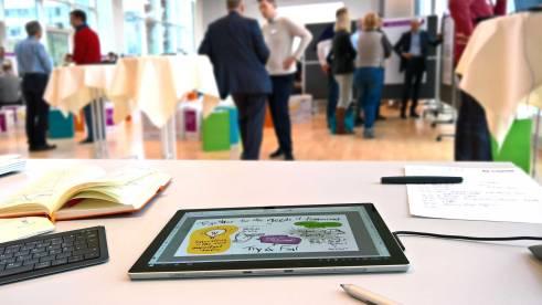 Digital-Graphic-Recording mit Surface