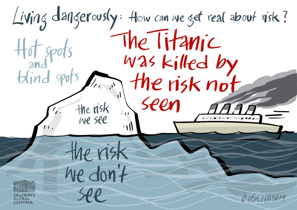 The titanic was killed by risk not seen