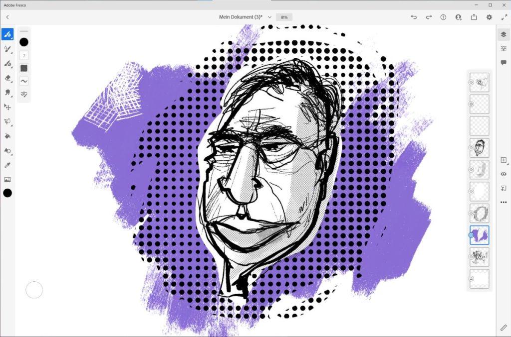 Zeichnen auf dem Microsoft Surface 17