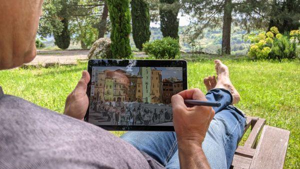 ONLINE-KURS: Digitales Zeichnen auf dem Microsoft Surface oder ähnlichen Windows-Geräten | 2.-3.9.2021 - nachmittags 1