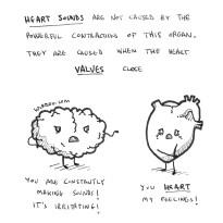 science, curious, curiosity, fun, funny, humor, brain, heart, sounds, valves