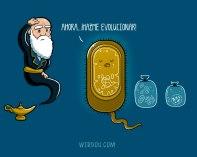 ciencia, humor, divertido, gracioso, darwin, evolución, endosimbiosis, celula, procariota, eucariota