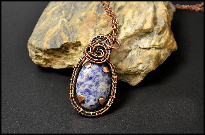 Copper Pendant With Your Own Hands  Wire Wrap Tutorial