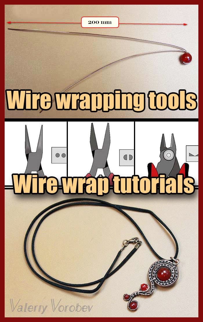 Wire wrapping tools jewelry making. For beginners.