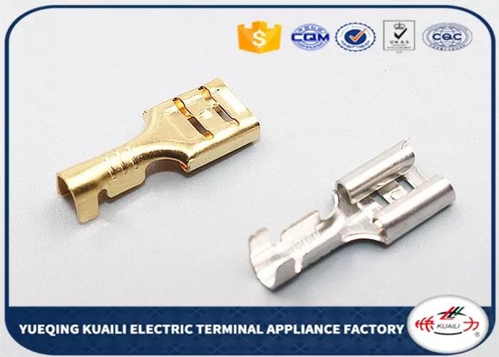 D6.3B Wire Harness Terminal, Automotive Brass Crimp