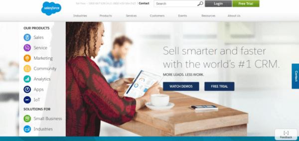Salesforce ReactJS website