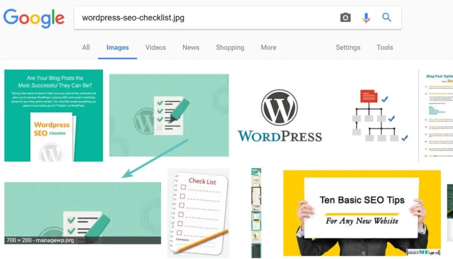 Google image search by filename