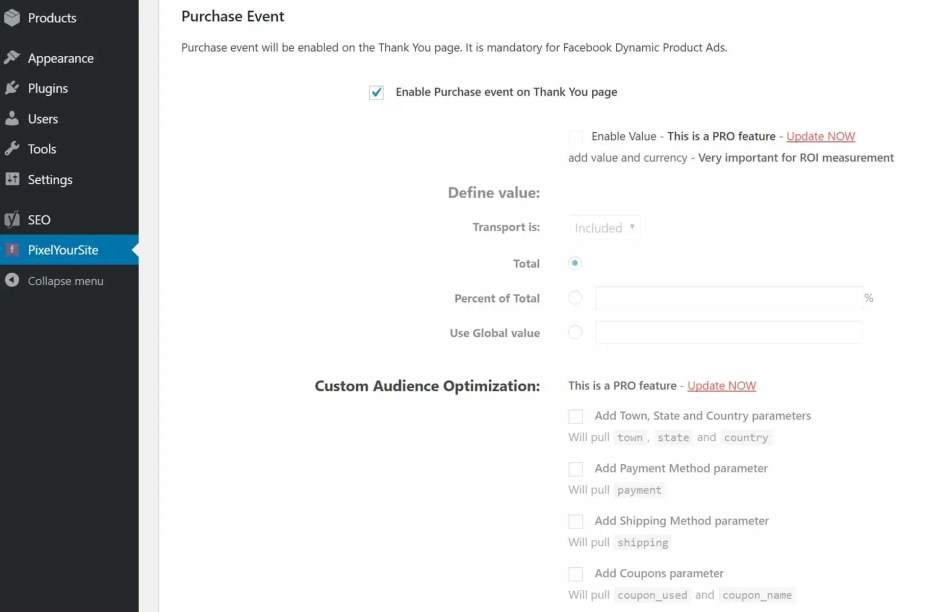 woocommerce purchase event thank you page