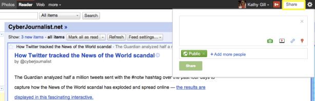 Google Reader - Sharing