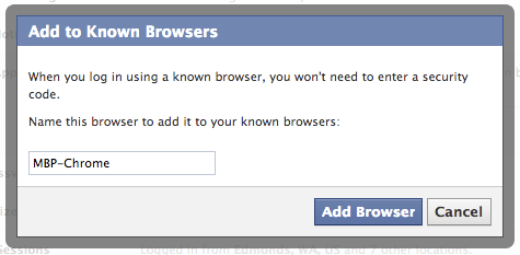 Facebook Browser List
