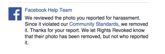 Facebook report photo