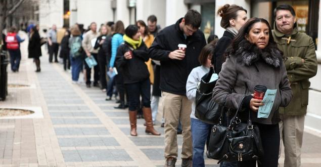 voting lines, 2013